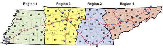 CMC-TDOT Regions