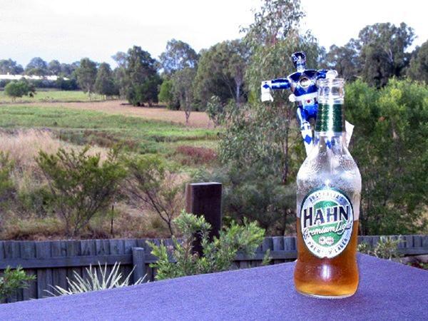 Having a beer in Brisbane, Australia