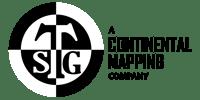 TSG A Continental Mapping Company Logo - Black