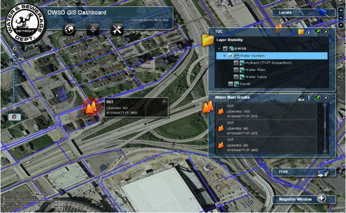 Web Based GIS Operation Dashboard